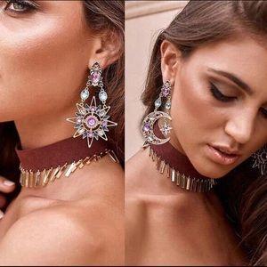 Boho Glam ☀️ & 🌚 Crystal drop earrings!!  New